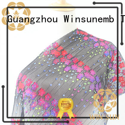 fashion design printed lace fabric clothgarment producer for sofa