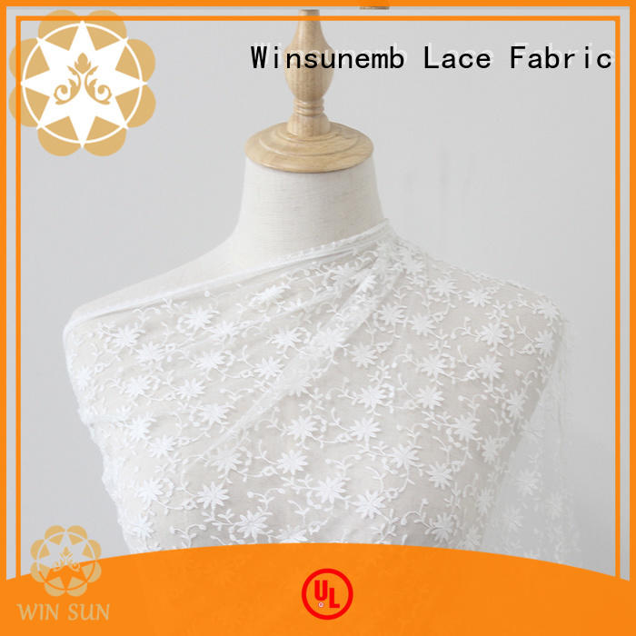 Winsunemb vacationing cotton lace fabric producer for apparel