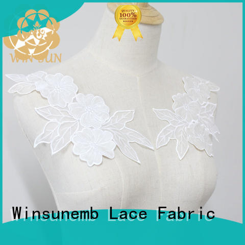 Winsunemb superior lace motif directly sale for decorate