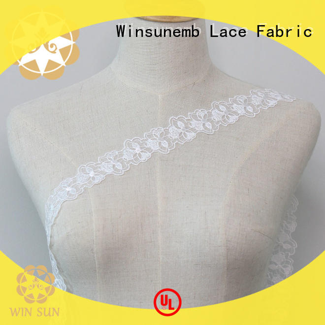 Winsunemb Brand childrens design floral Embroidery Lace Trimming manufacture