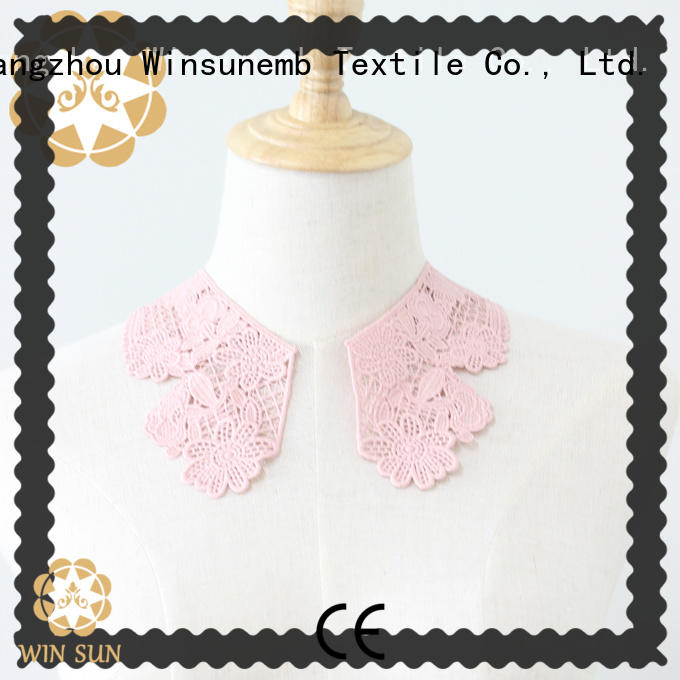 outstanding embroidery lace motif jewelry for manufacturer for clothing collars