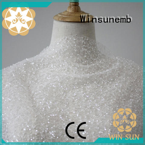 Winsunemb nylon beaded lace fabric shop now for underwear