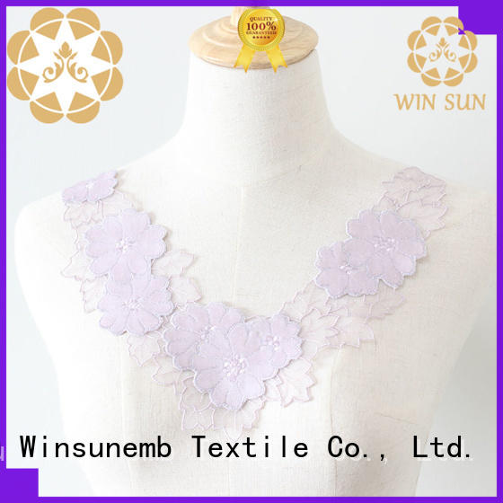 Winsunemb exquisite lace motif wholesale for clothing collars