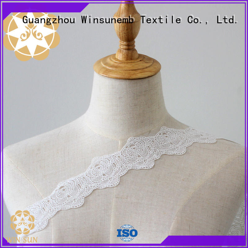 Winsunemb eco-Friendly lace fabric for DIY