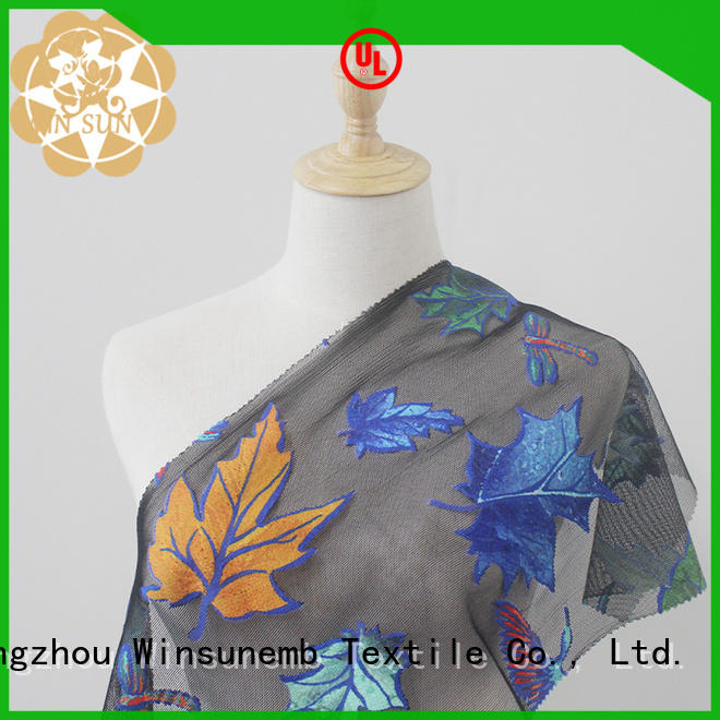 Winsunemb soft printed lace fabric producer for printed fabric