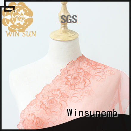 Winsunemb durable bridal lace fabric producer for apparel