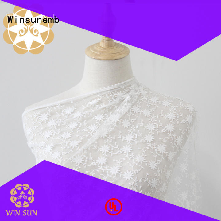 Winsunemb excellent lace material for manufacturer for underwear