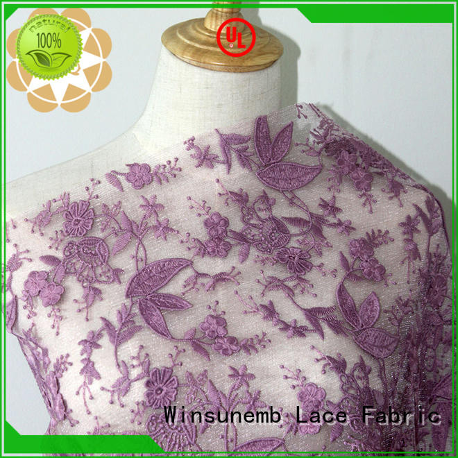 cut green red lace fabric wear Winsunemb company