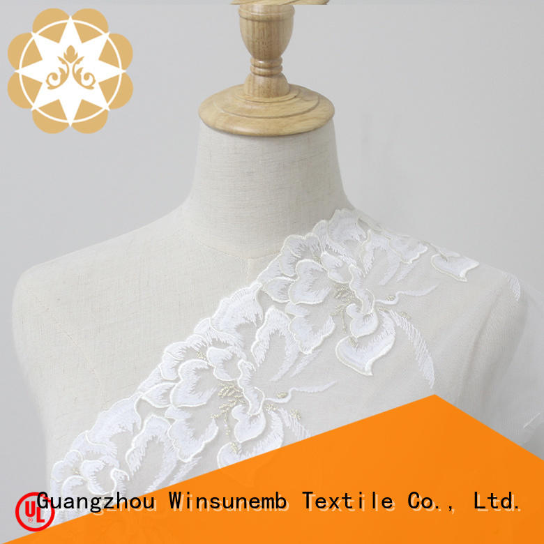 Winsunemb wear Embroidery Lace Trimming for manufacturer for fashion garment
