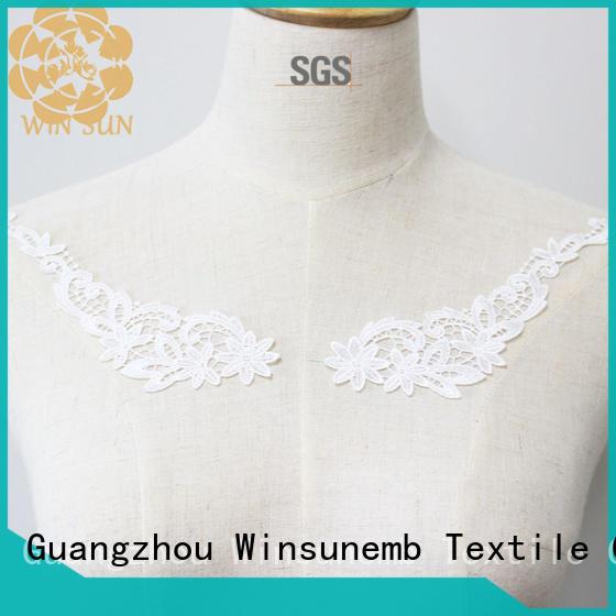 Winsunemb cotton lace motif directly sale for Lingerie