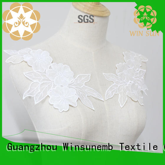 Winsunemb necklacel lace neckline wholesale for DIY