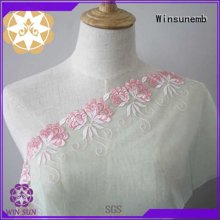 Winsunemb excellent stretch lace french for apparel