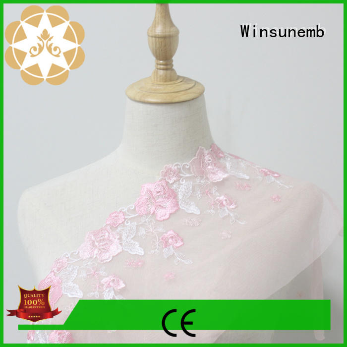 fans style lace fabric producer for lingerie Winsunemb
