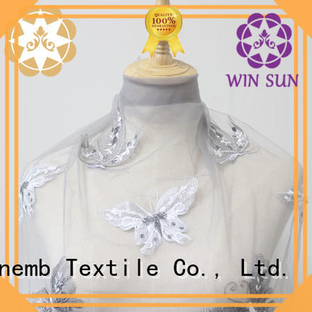 Winsunemb excellent lace material shop now for apparel