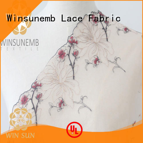 Winsunemb eco-Friendly stretch lace trim for manufacturer for fashion garment