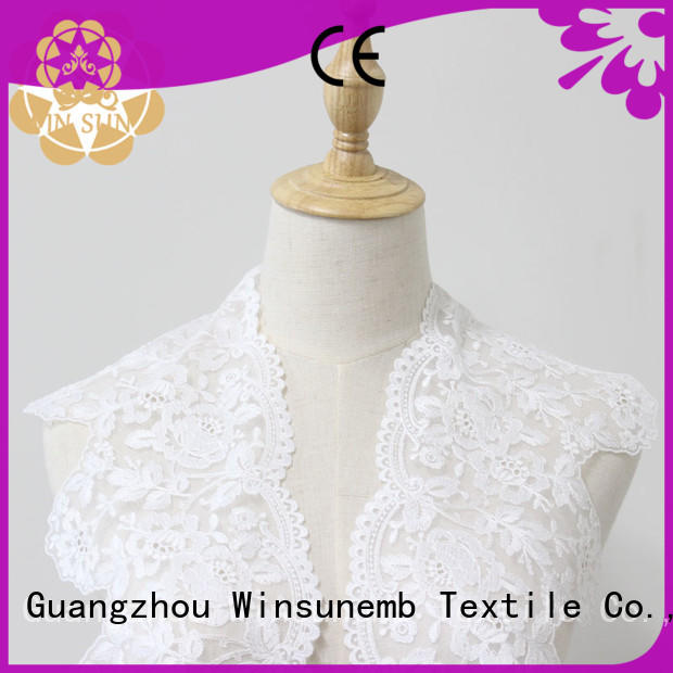 Winsunemb trimmingsouth Embroidery Lace Trimming producer for fashion garment