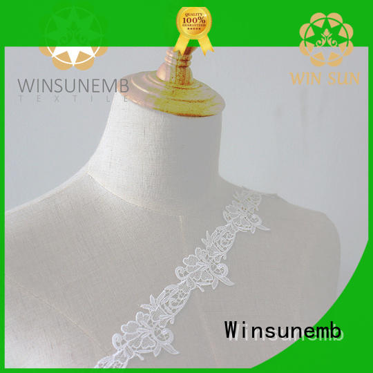 Winsunemb colorful lace fabric producer for bedclothes
