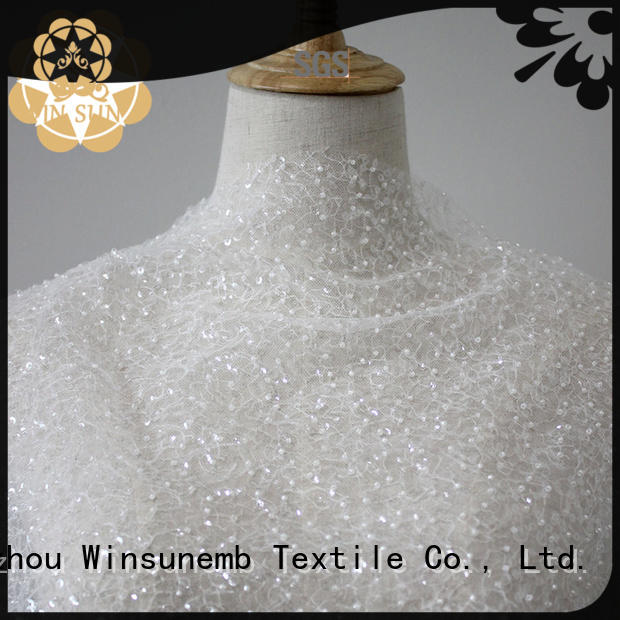 Winsunemb soft lace material for apparel