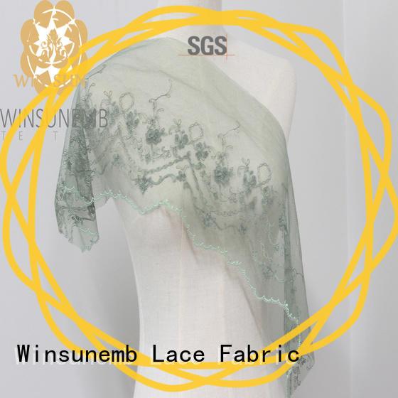 Winsunemb highend stretch lace trim bulk production for bedclothes