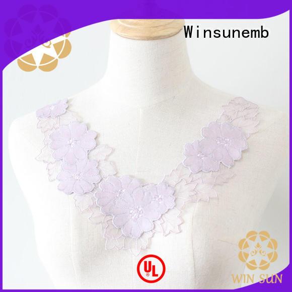 Winsunemb elegant lace neckline in china for decorate