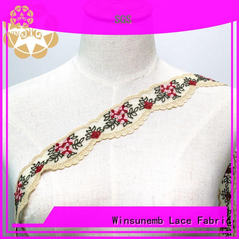Winsunemb costumes stretch lace trim for lingerie