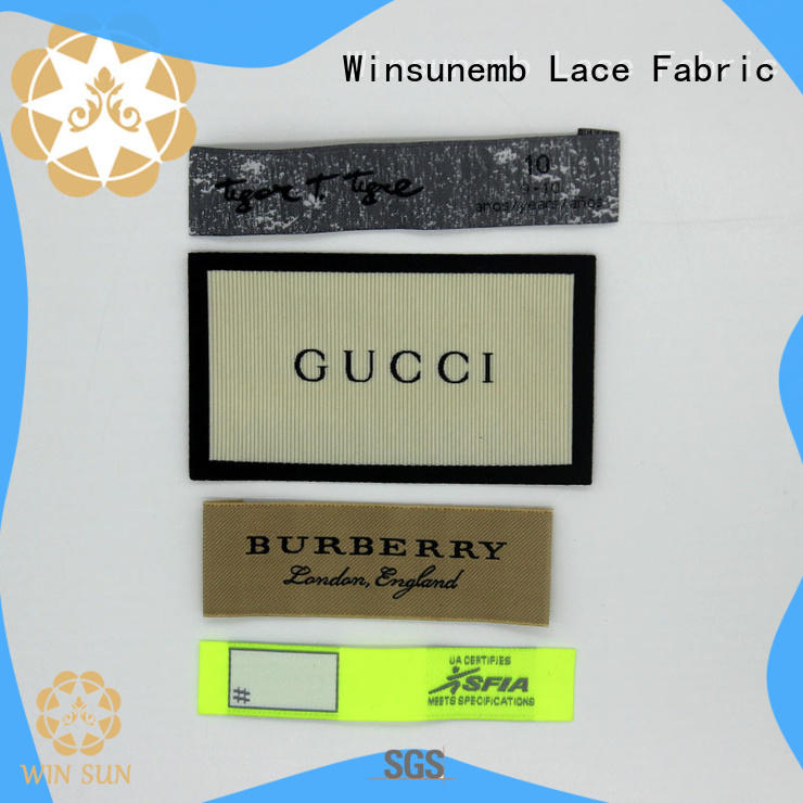 Winsunemb labels woven labels dropshipping for clothes