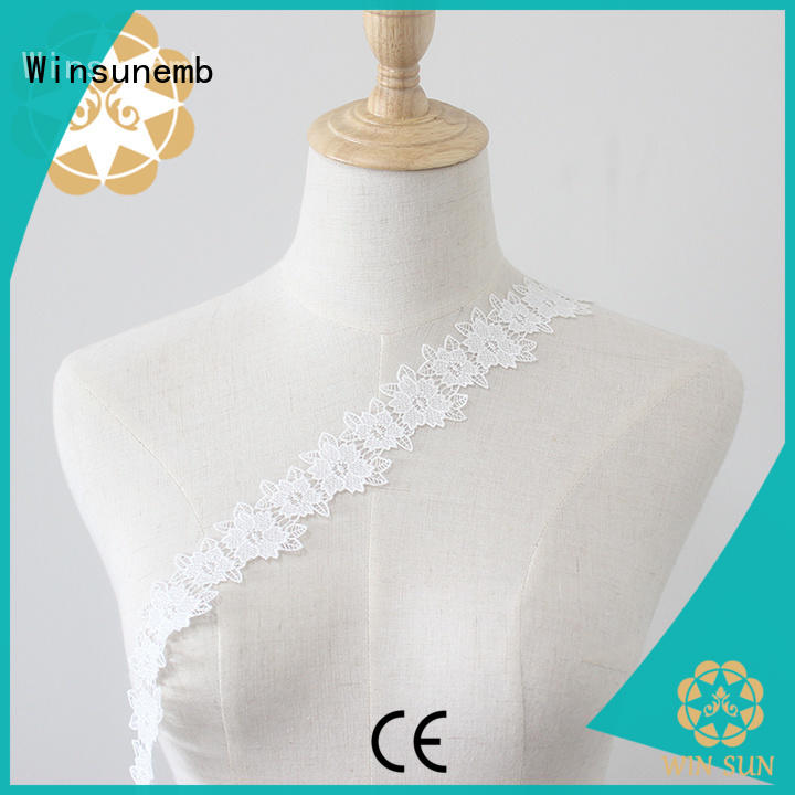 Winsunemb metallic lace fabric order now for DIY