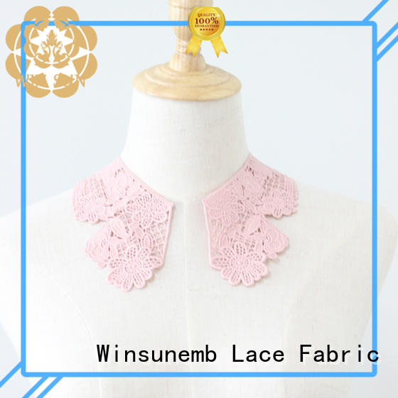 Winsunemb superior embroidery lace motif factory price for clothing collars