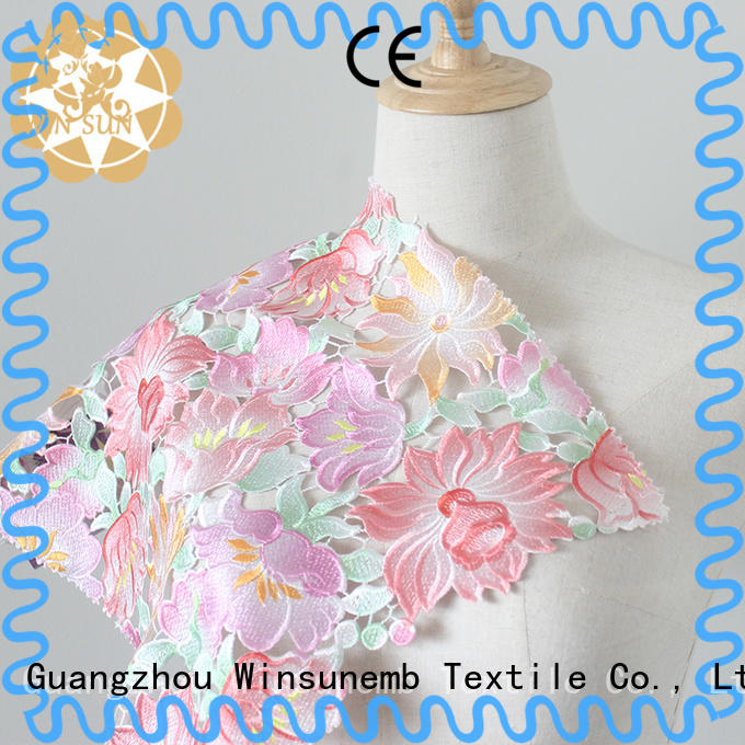 Winsunemb embroidery Printed fabric dropshipping for printed fabric