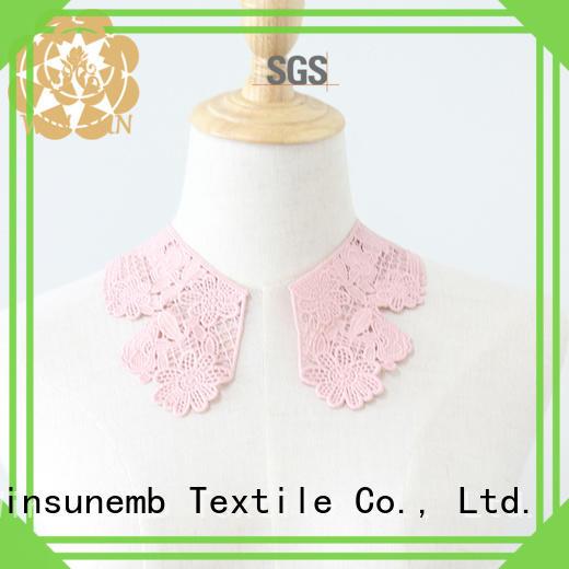 Winsunemb appliqueshighest lace neckline for manufacturer for clothing collars