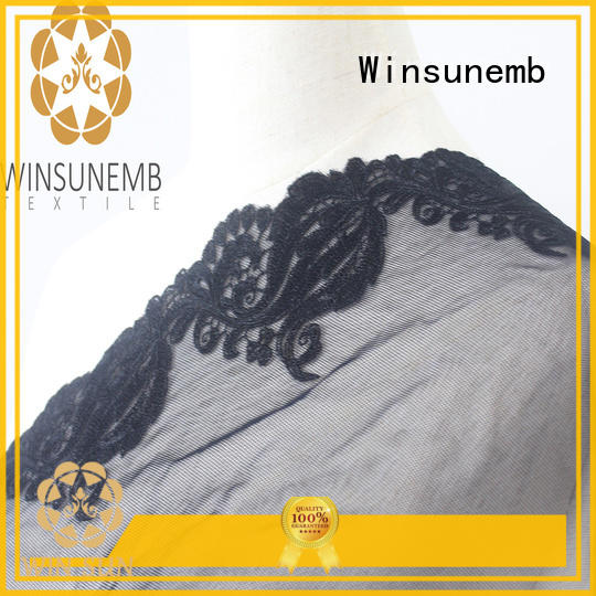 eco-Friendly lace fabric base producer for fashion garment