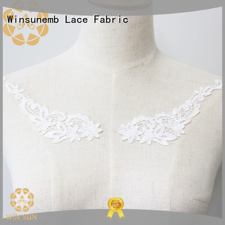 superior embroidery lace motif garment wholesale for decorate