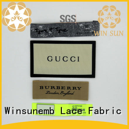 Winsunemb high-quality woven labels factory price for clothes