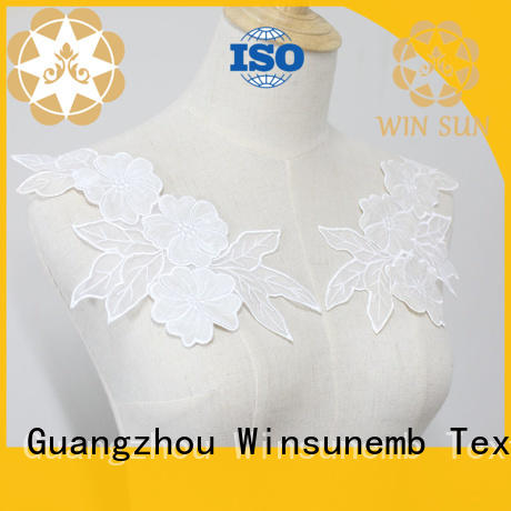 Winsunemb superior lace motif in china for chest corsage