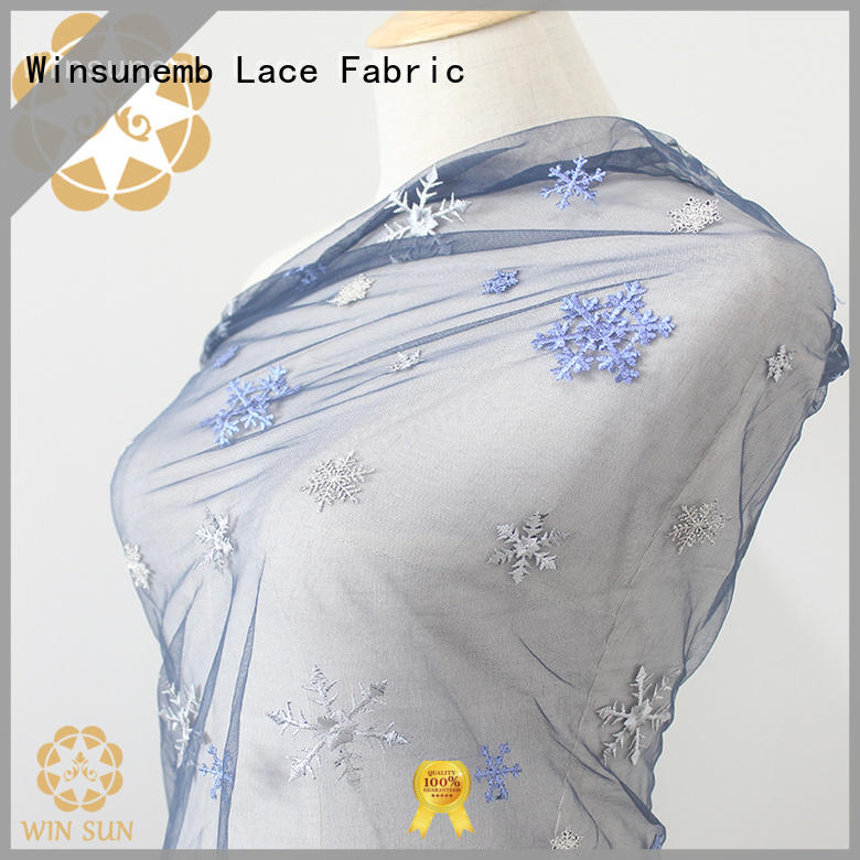Winsunemb gorgeous bridal lace fabric producer for apparel