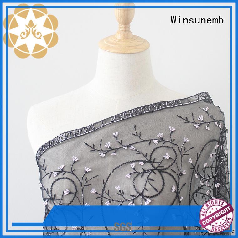 Winsunemb winsunemb lace fabric in china for apparel