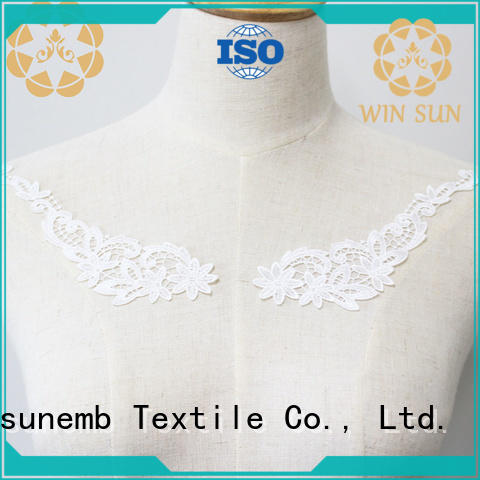 superior embroidery lace motif sexy in china for chest corsage