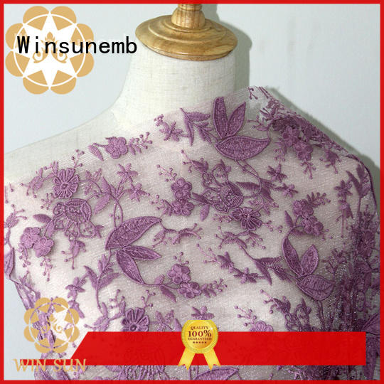 Winsunemb lace fabric shop now for apparel