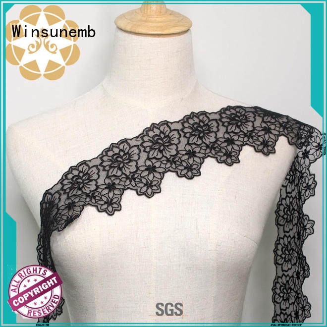 stretch lace hollow Embroidery Lace Trimming garment company