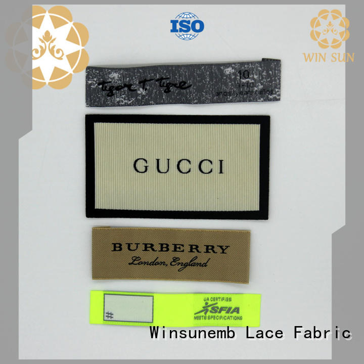 Winsunemb high-quality clothing tags in china for dresses