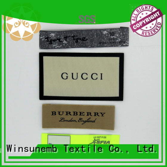 Winsunemb outstanding fabric labels factory price for clothes