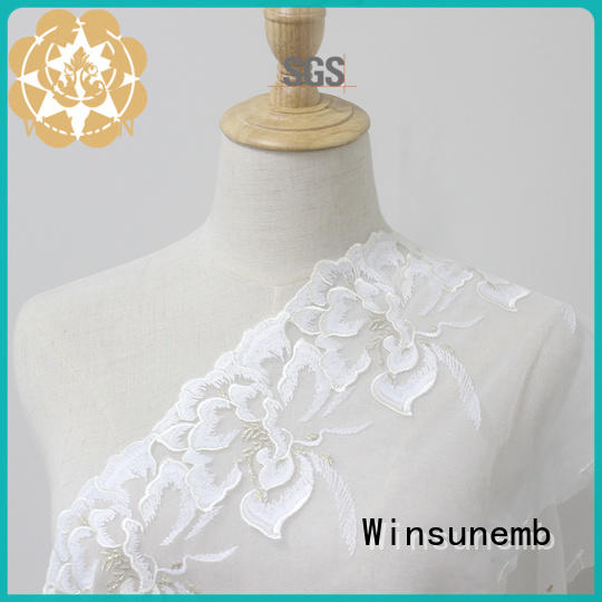 Winsunemb high quality Embroidery Lace Trimming for manufacturer for lingerie