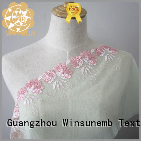 Winsunemb 135cm lace fabric in china for apparel