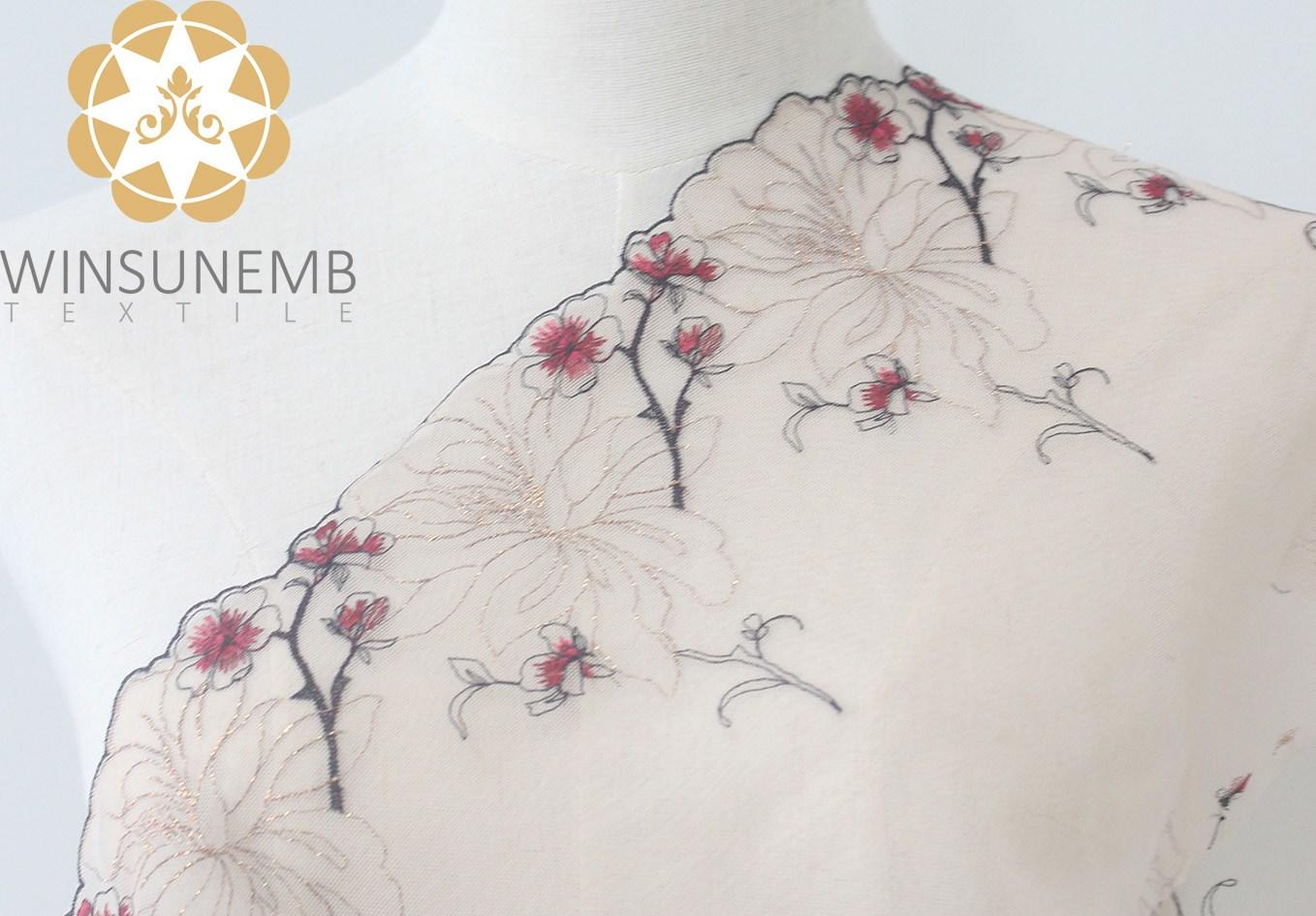 enchanting plum embroidery Lingerie lace trimming(South Korea iljimae),.soft and comfortable Environment  protection.Cultured sexy.-1