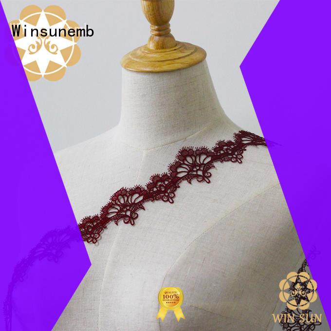 Winsunemb hook lace trim for manufacturer for lingerie