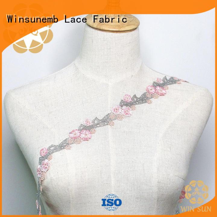 Winsunemb fine qualtiy lace ribbon bulk production for DIY