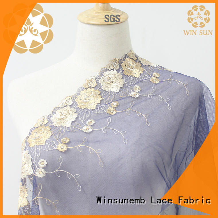 Winsunemb winsunem lace trim by the yard for manufacturer for fashion garment