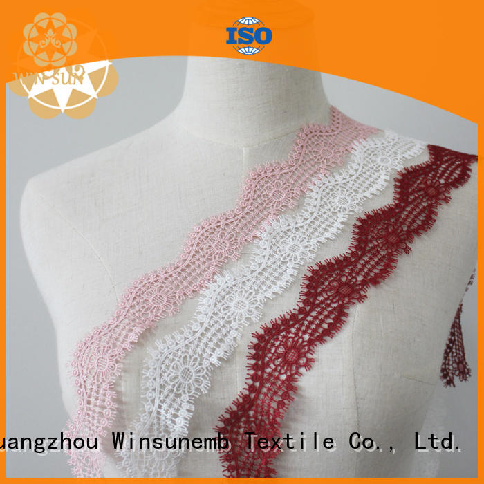 Winsunemb high quality lace ribbon order now for fashion garment