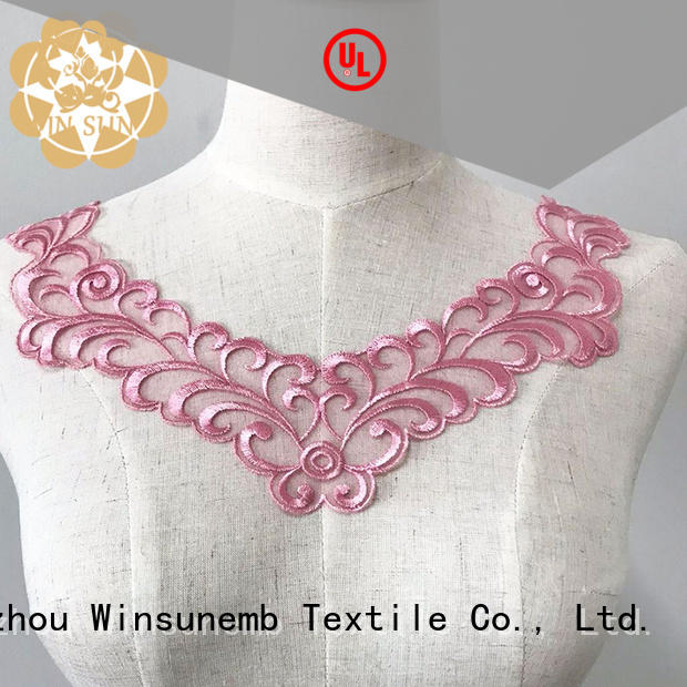 Winsunemb bowknot lace motif dropshipping for clothing collars