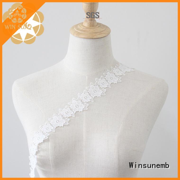 Winsunemb eco-Friendly lace trim grab now for lingerie